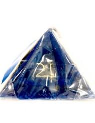 piramide bassa blu retro